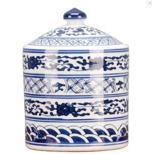Classic Porcelain - BLUE AND WHITE Faux Stacked Box