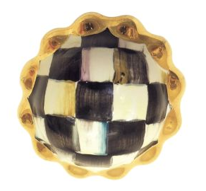 Mackenzie Childs - COURTLY CHECK PETIT FOUR ROUND KNOB