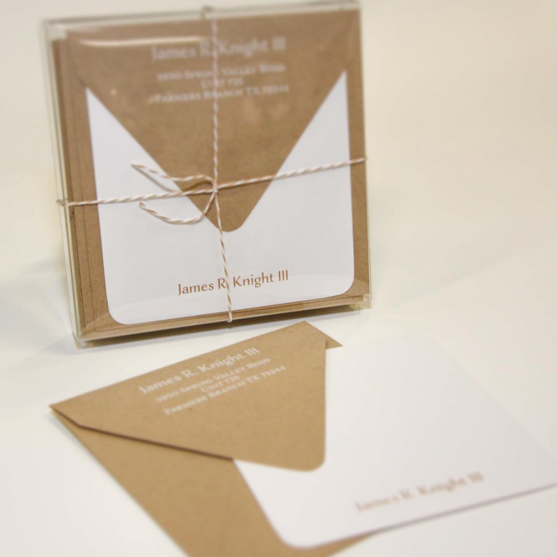 Stationery: Square Kraft Cards