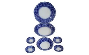 Antiques - Till and Sons Flow Blue Serveware
