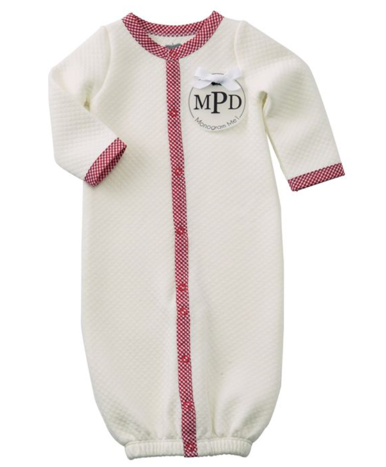 MUD PIE- QUILTED RED GINGHAM SLEEPING GOWN - Calvert & Collection