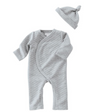 Mud Pie - Grey Quilted Onesie and Hat