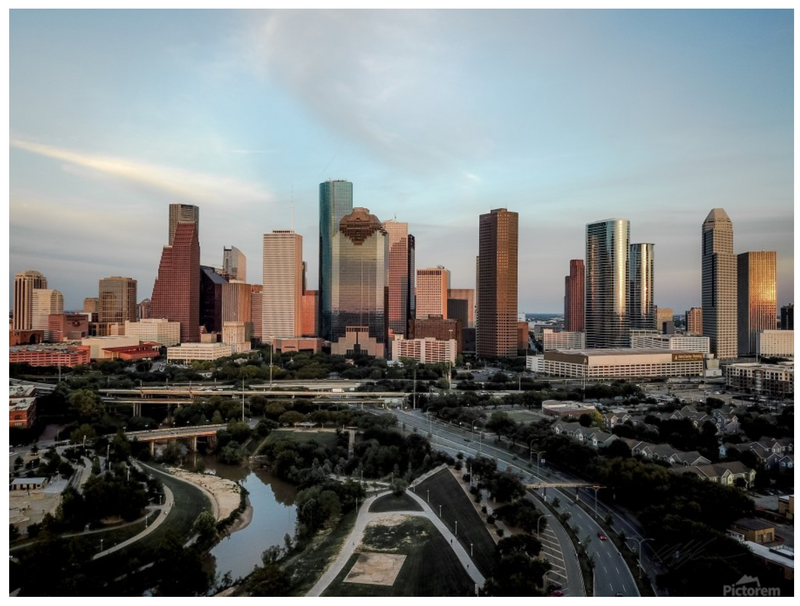 """Iconic Houston"" by Jeffrey Chen : Buffalo Bayou"