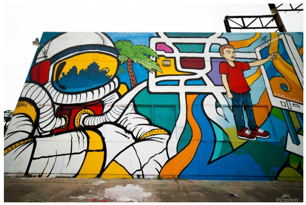 """Iconic Houston"" by Jeffrey Chen : Astro Graffiti"