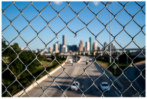 """Iconic Houston"" by Jeffrey Chen : Chain Heart Fence"
