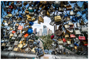"""Iconic Houston"" by Jeffrey Chen : Lock Bridge"