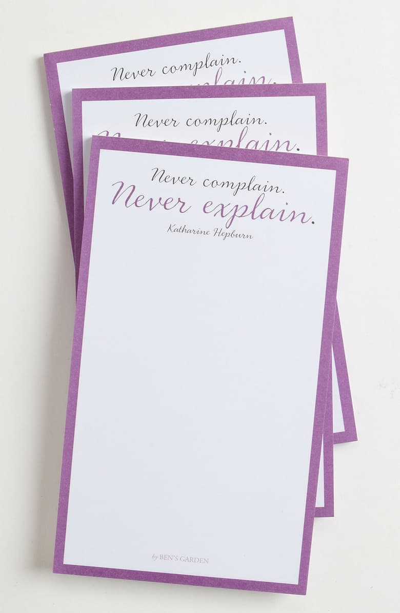 Ben's Garden - Never Complain, Never Explain Notepads Set of 3