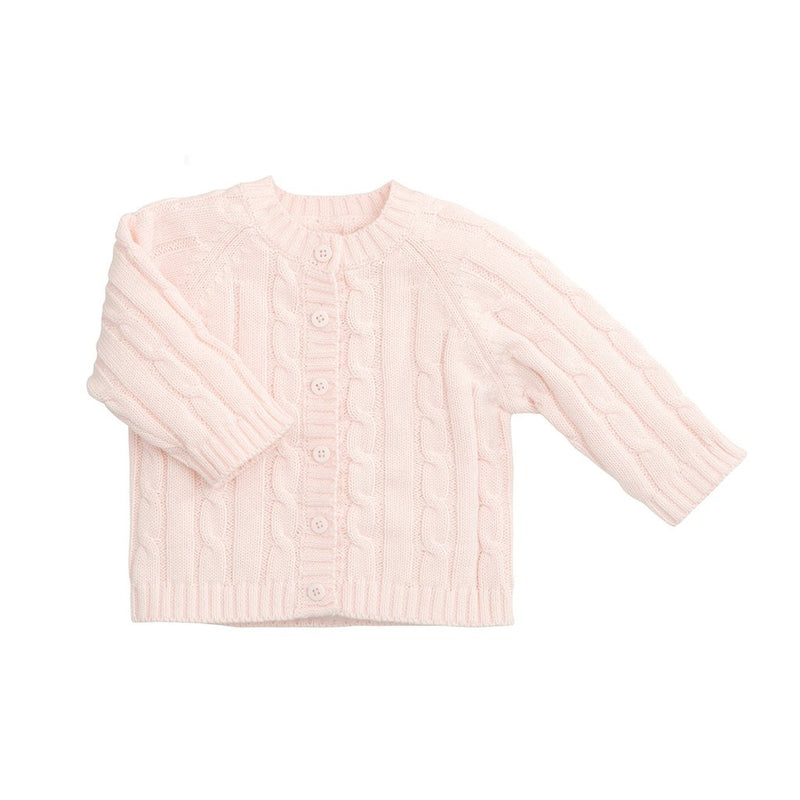Elegant Baby - Classic Cable Sweater Pink