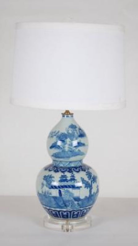 Chinoiserie Lamp: Double Gourd