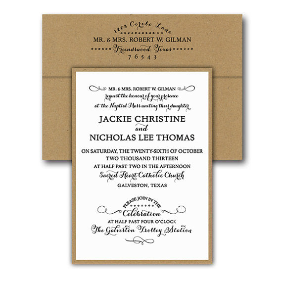 Wedding Invitations - Gibson Collection Flat Printed