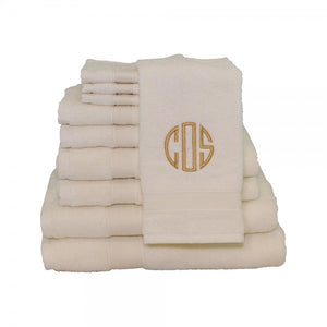 Monograms - Luxury 8 Piece Cotton Towel Set