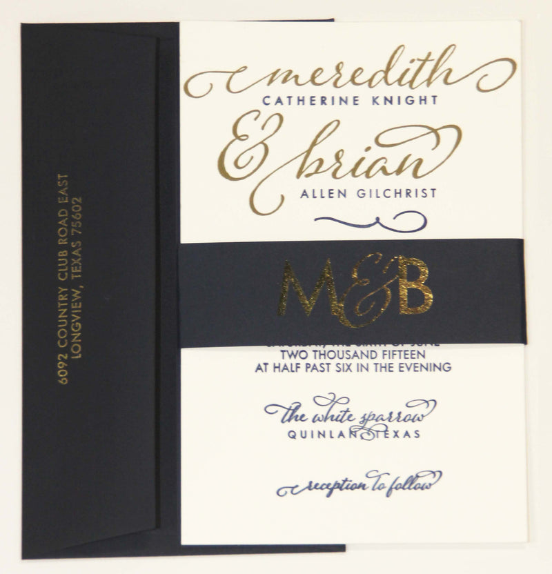 Meredith Letterpress Invitation Card