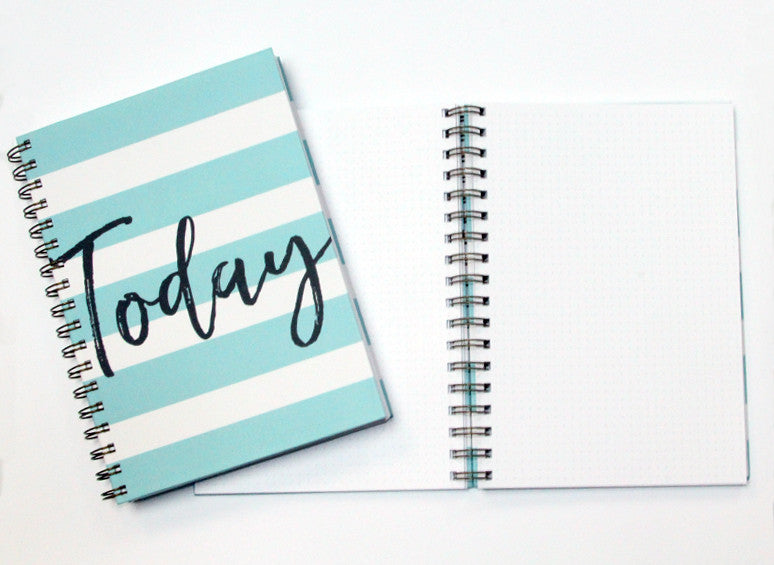 Today - Hard Cover Wire Notebook