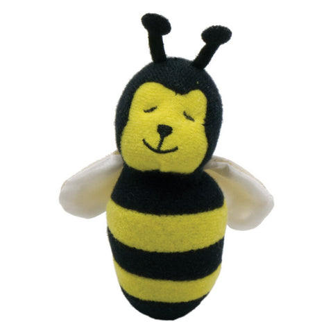 yellow, black and white plush bumble bee magnet S2078