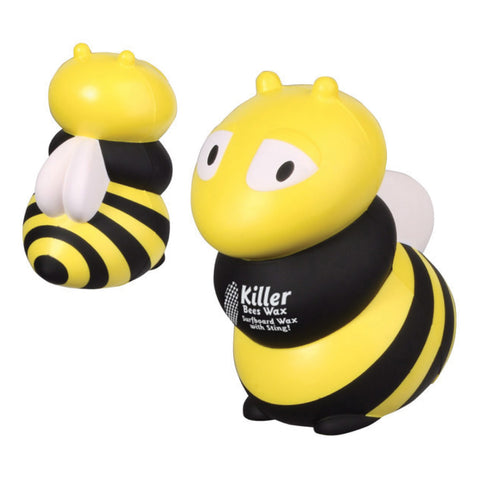yellow black and white bee with logo imprint LAZ-BZ08