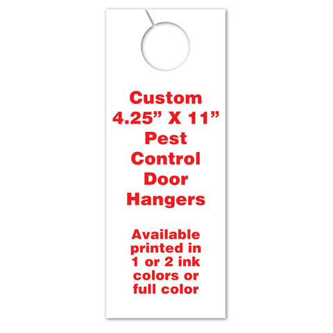 4.25 x 11 pest control marketing door hangers
