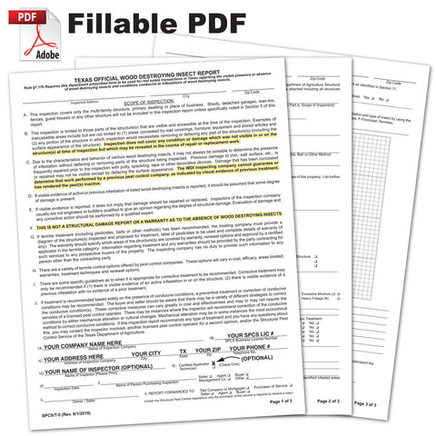fillable Texas Official WDI Report pdf
