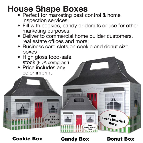 House Shape Donut Boxes For Pest Control Marketing
