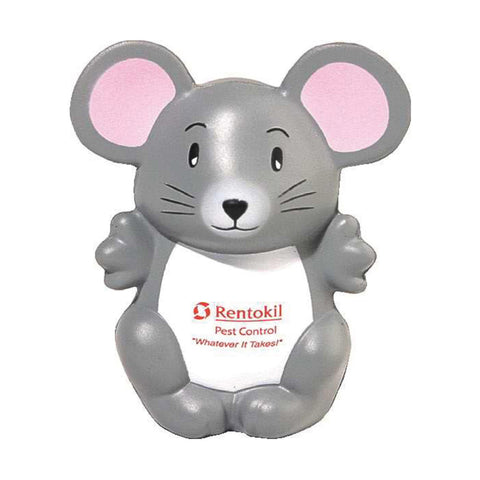 pink gray white mouse giveaway with company logo imprint LNA-MS01