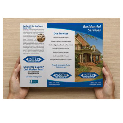 custom pest control brochure