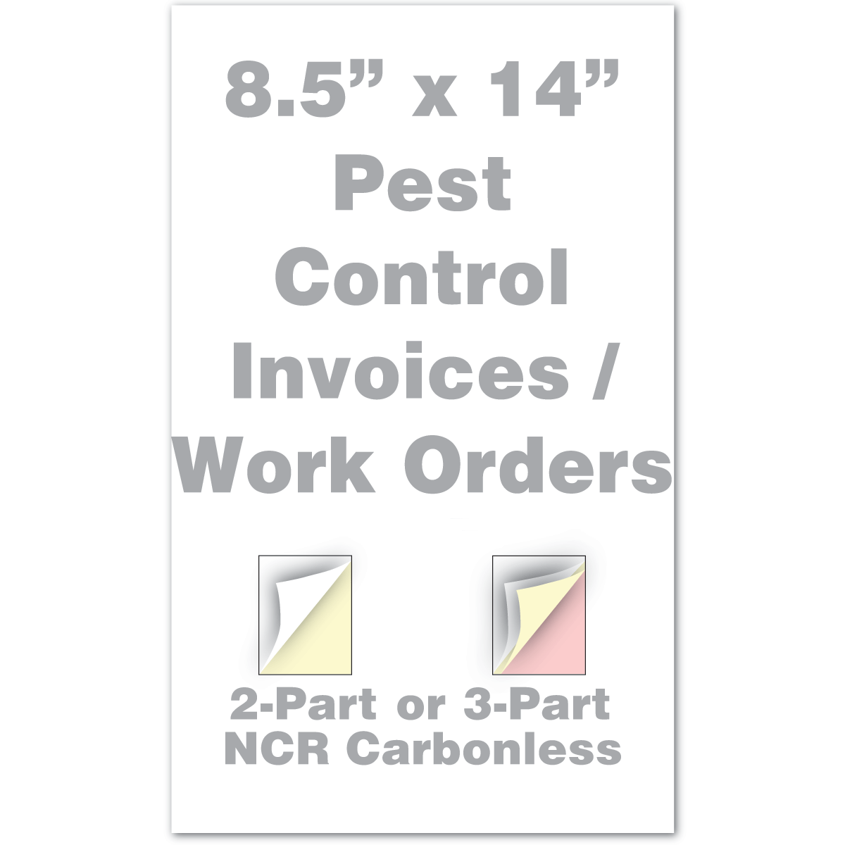 Legal Pest Control Invoice Work Order X Or Part - 2 part invoices