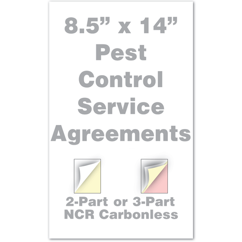 pest control service agreements legal size
