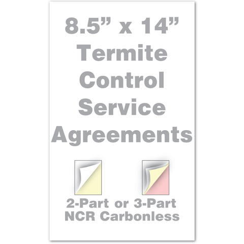 "termite service agreement legal size 8.5"" x 14"""
