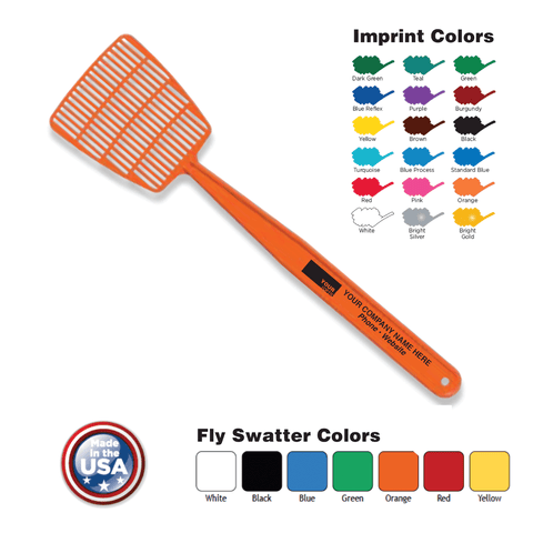 Standard mini flyswatter imprinted