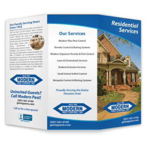pest control brochure full color