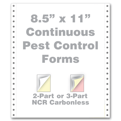 "continuous pest control forms 8.5"" x 11"" 2 part 3 part"