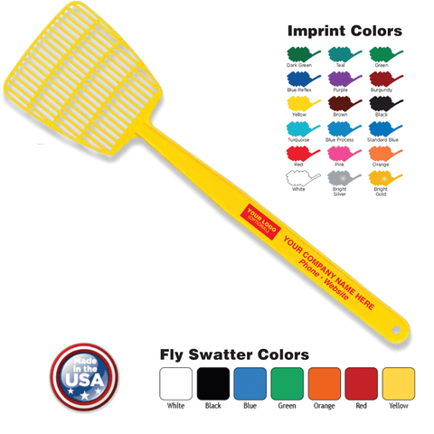 standard fly swatter imprinted logo