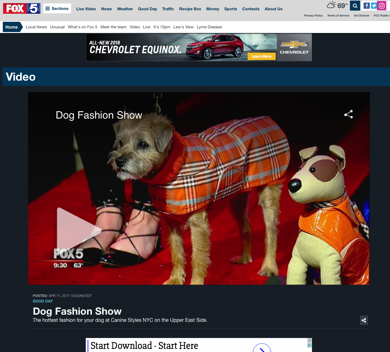 4/17 - Fox 5 NY puts on A Canine Styles Fashion Show to showcase the HOTTEST Dog Fashion.