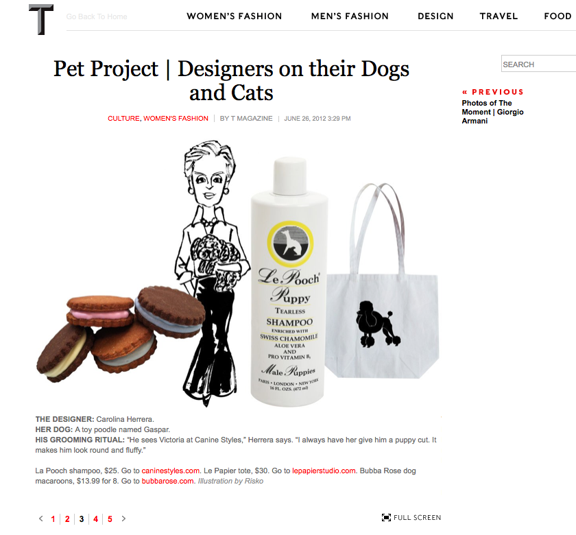 6/12 - T Magazine talk Pet Project | Designers on their Dogs and Cats