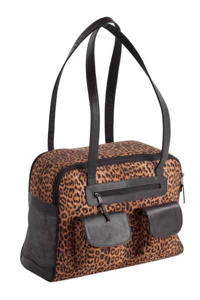 Dog Carrier - Cotton Leopard Carrier Bag