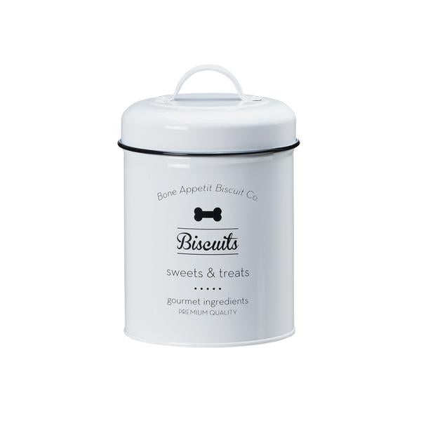 "Metal Treat Jar - ""Biscuits for Rover Treat Tin"""