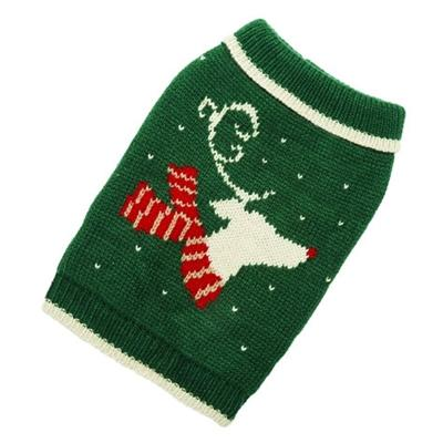 Dog Reindeer hand knit dog sweater