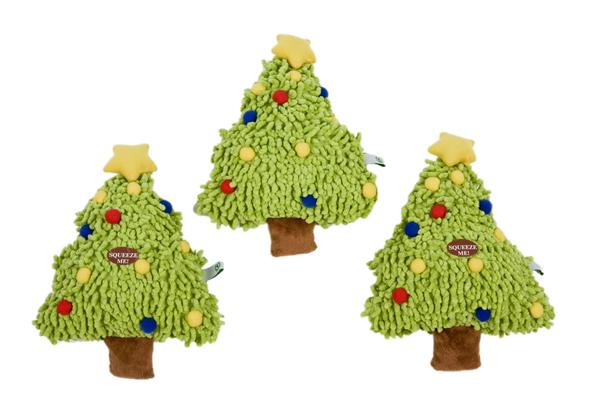 Holiday Toy - Christmas Tree - Squeaker Toy - Dog Toy