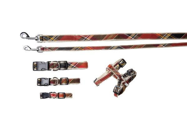 Plaid Signature Collection - Dog Collars, Harnesses & Leads - Maclachlan Red Plaid