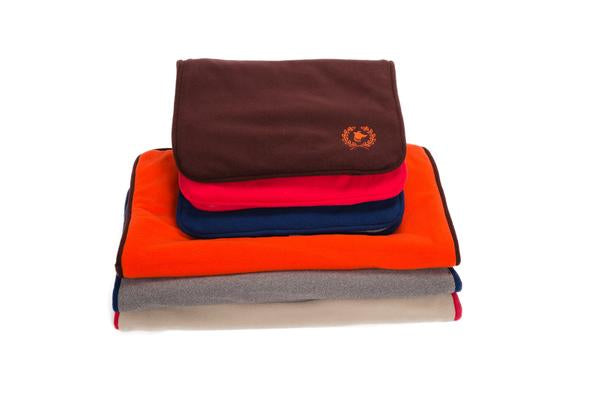 Polar Fleece Dog Mat - Brown, Red, Navy - 3 Colors
