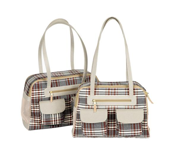 Dog Carrier - Canvas Classic Plaid