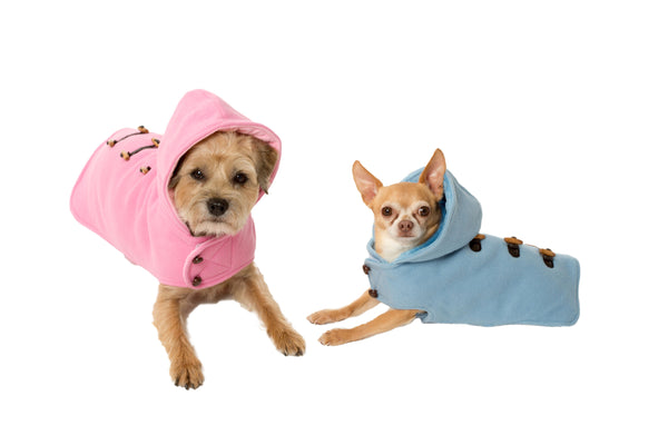 Toggle Hooded , Pink, Blue Coat