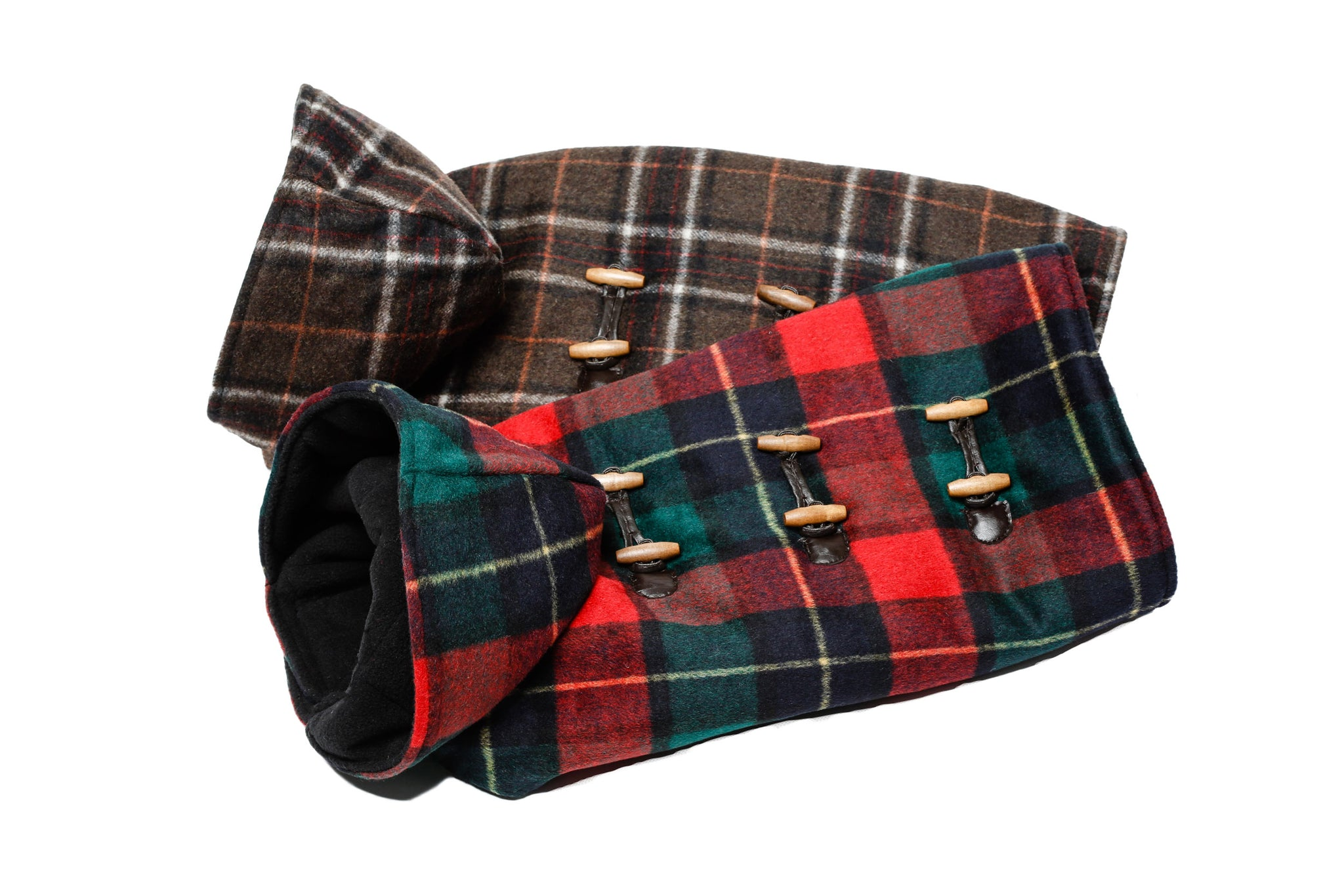 Toggle Hooded - Red or Brown Plaid