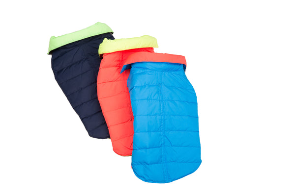 Down, Lightweight Sport Puffer Coat, 3 Colors
