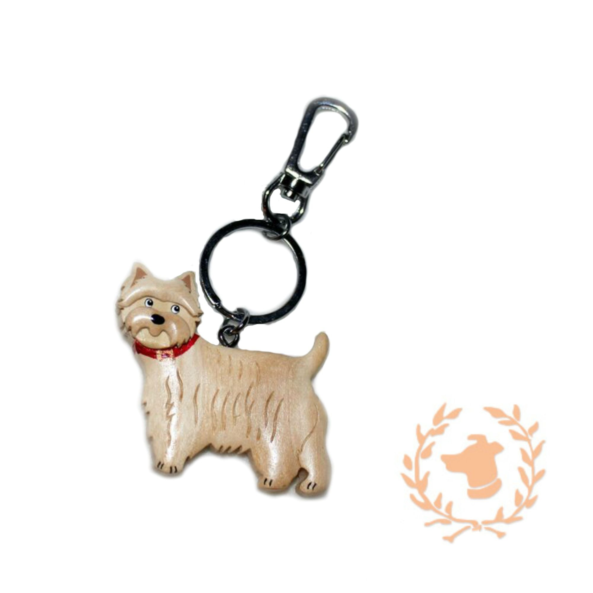 Hand Carved Design Keychain - Westie
