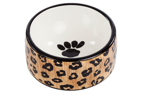 Leopard Bowl - Ceramic Bowl - Dog Bowl