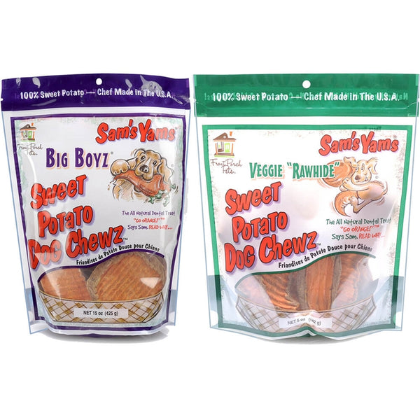 Sam's Yams - Sweet Potato - Dog Chew - Vegetarian Treat - USA