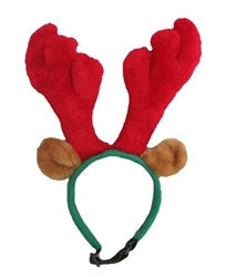 Holiday Antler - Dog Headband - Holiday Dog Hat