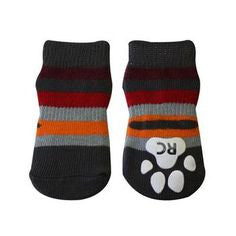 Anti-slip - Sport Sock - Dog Sock -Gray - Stripe