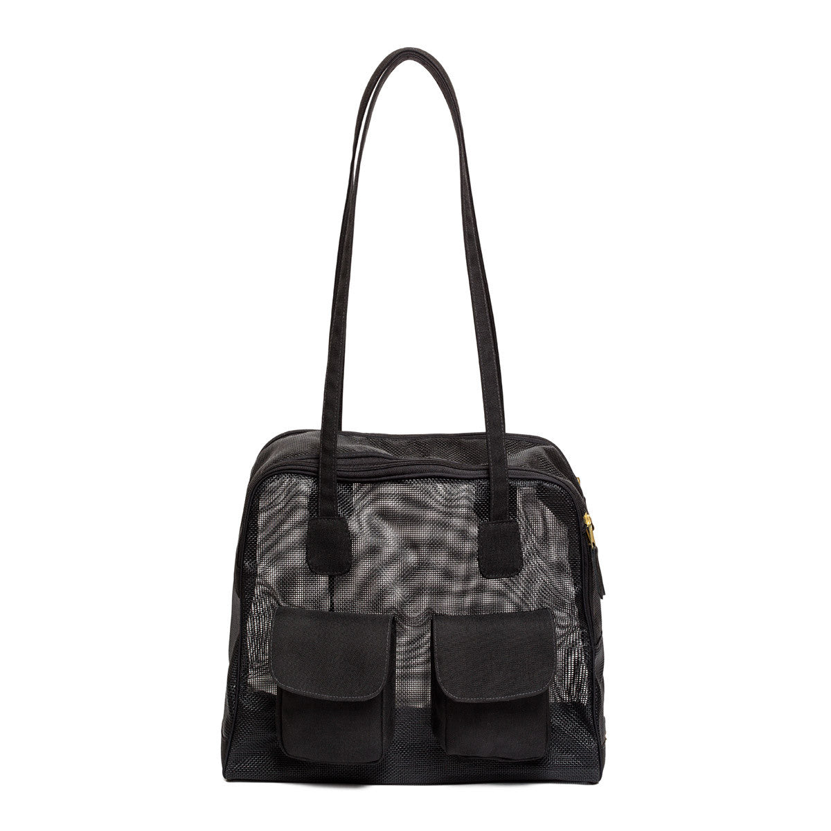 "Dog Carrier - Summer Mesh - Black Mesh, ""See Through"" Bag"
