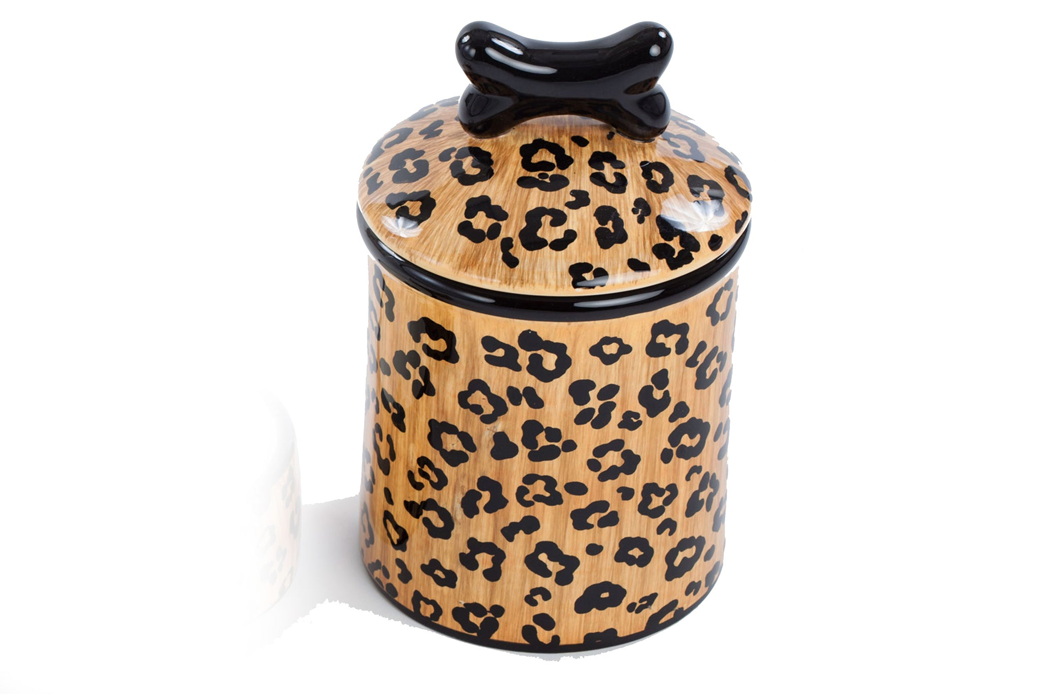 Leopard Treat Jar - Ceramic Treat Jar